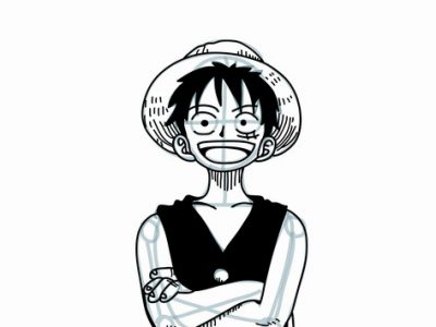 how to draw luffy step by step