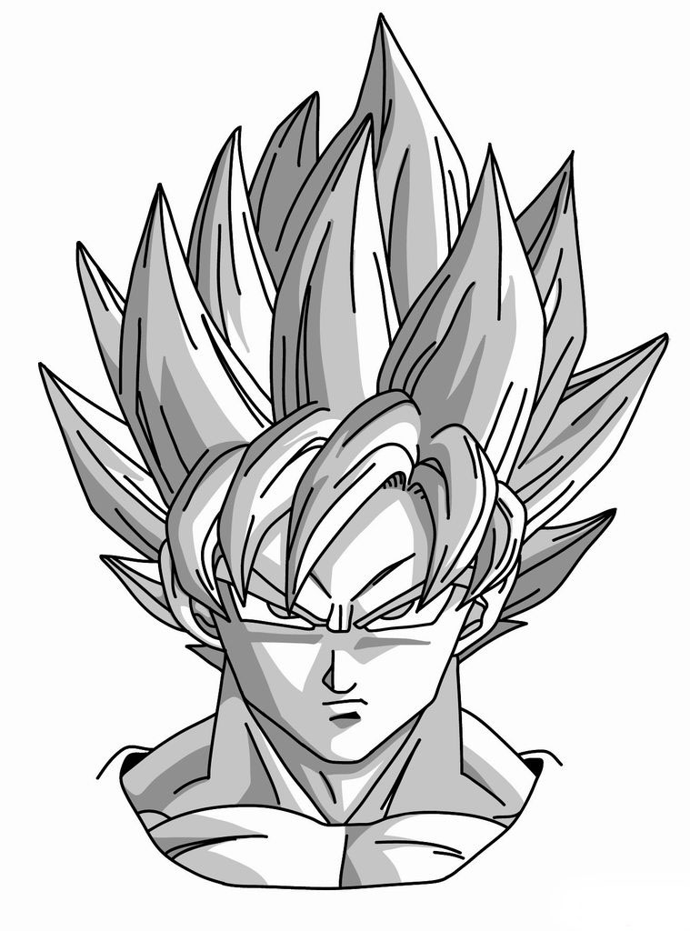 How To Draw Goku Super Saiyan From Dragonball Z