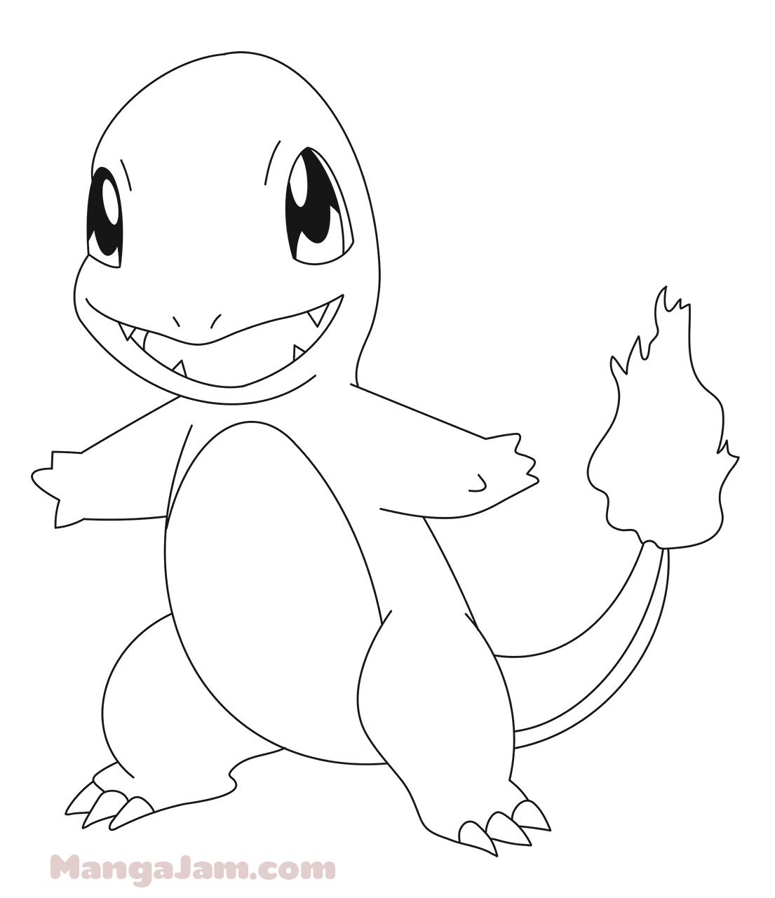 how to draw charmander from pokemon