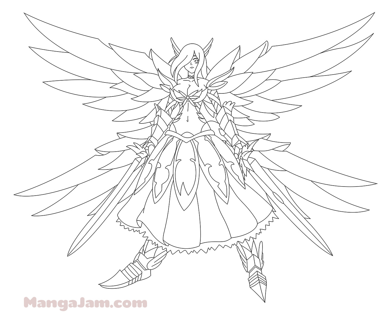 How to Draw Erza Scarlet Haevens Wheel Armor from Fairy ...