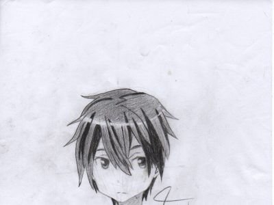 how to draw kirito step by step