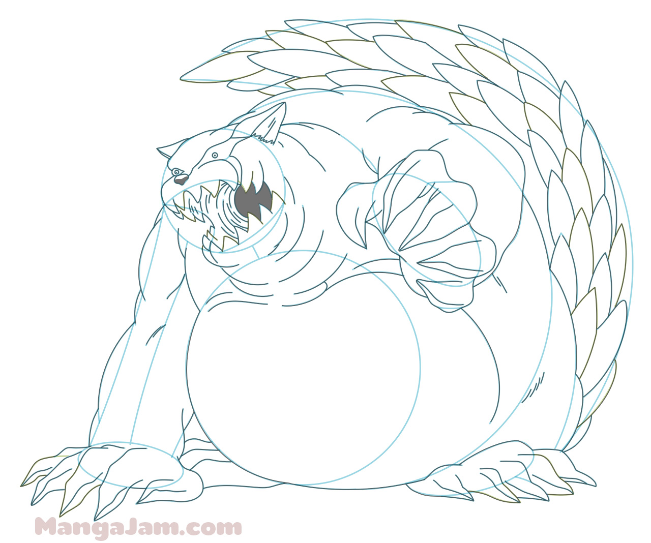 how to draw nine tailed fox naruto step by step