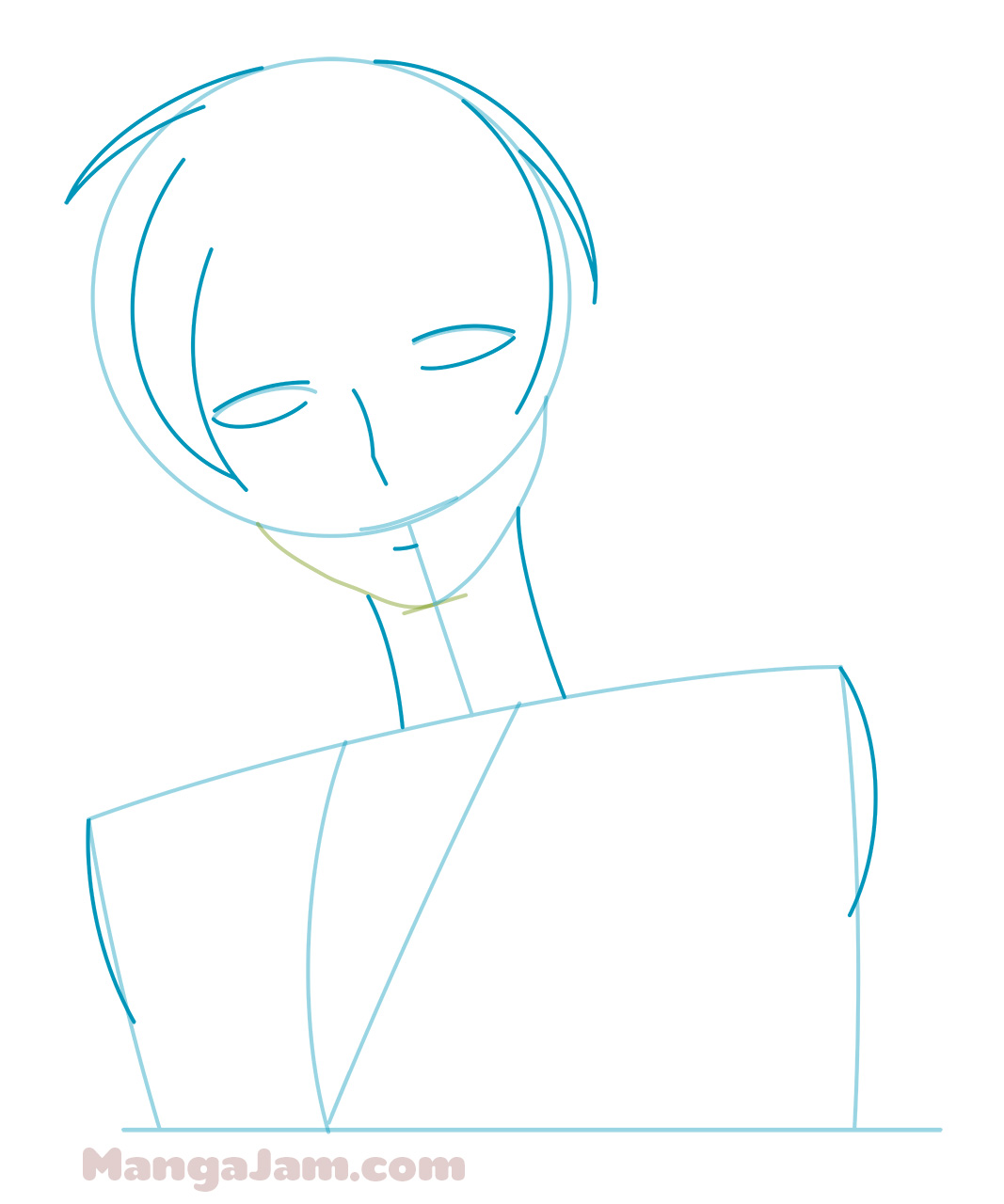 how to draw tamaki suoh step by step