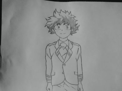how to draw midoriya izuku