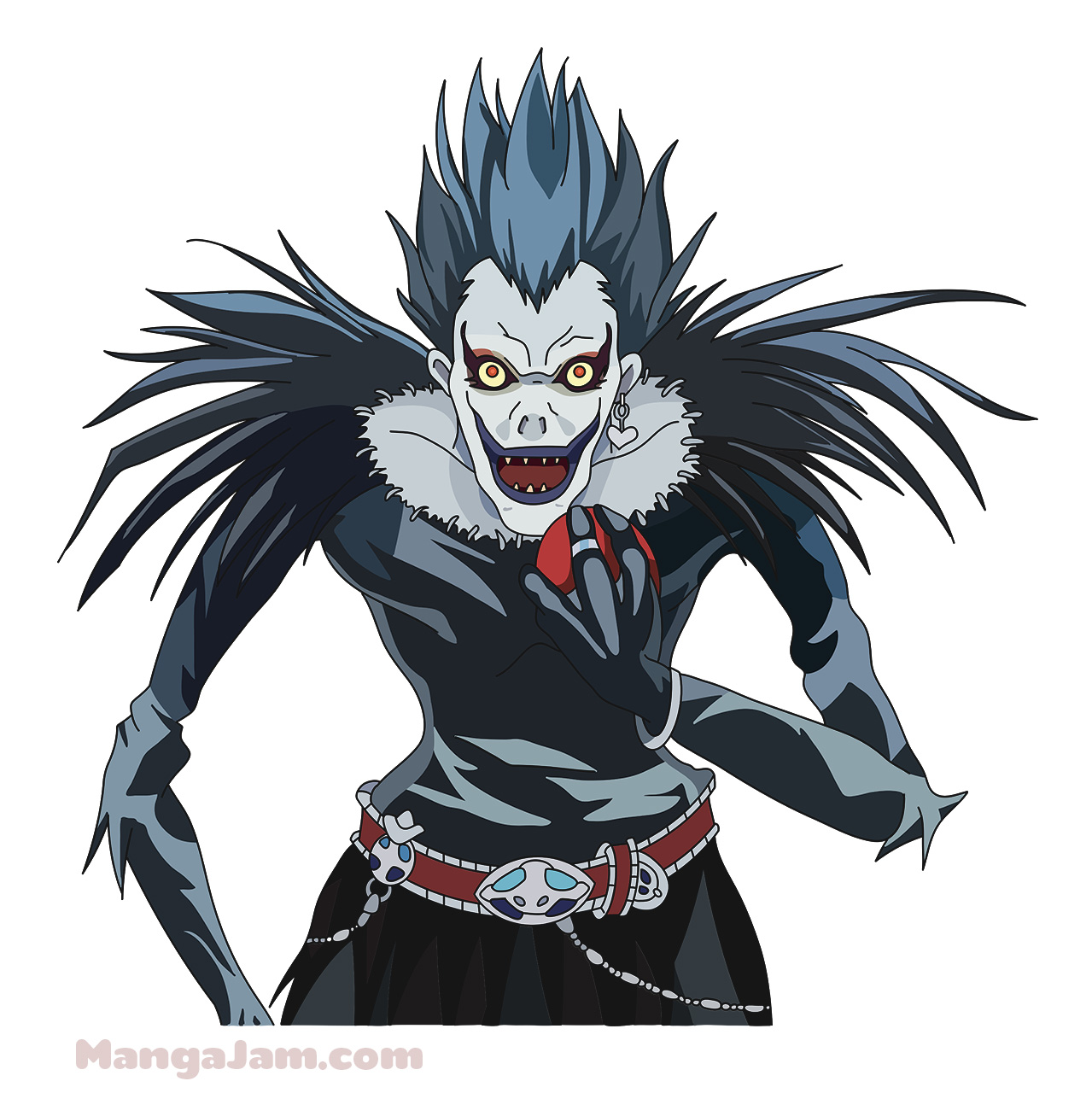 How to Draw Ryuk from Death Note - Mangajam.com