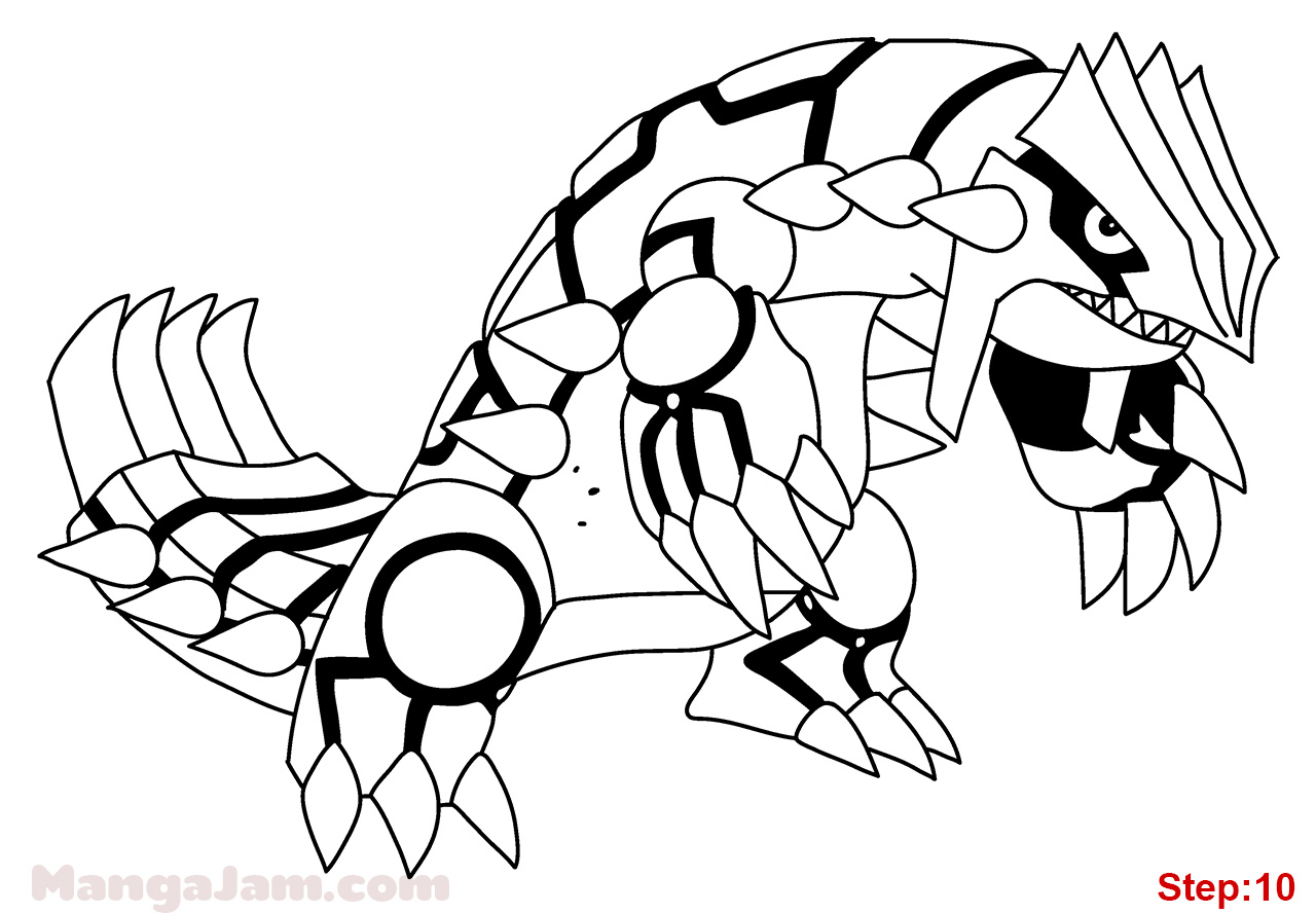 pokemon groudon ex coloring pages - photo#25