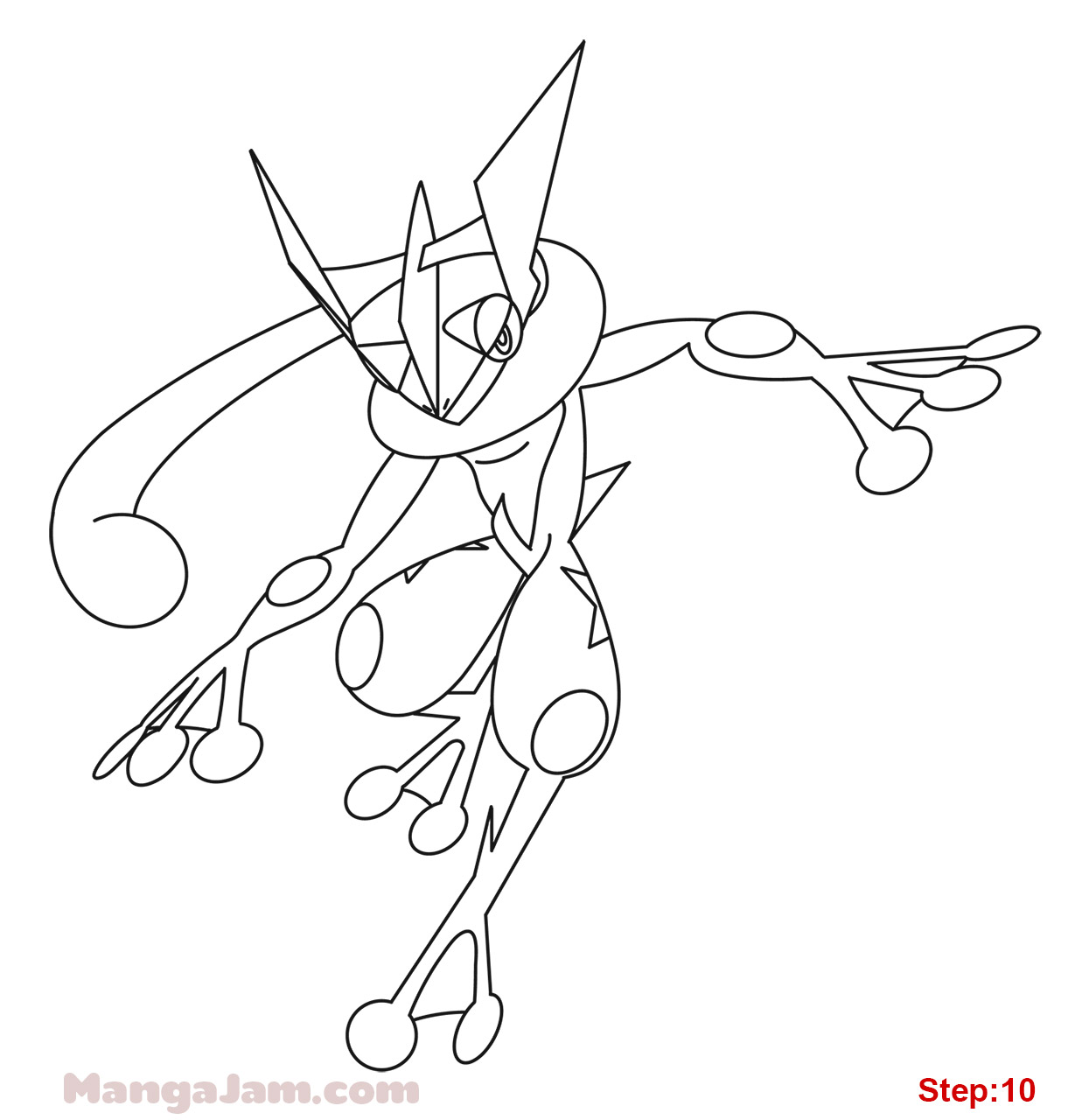 pokemon greninja coloring pages - photo#22