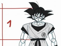 how to draw goku from dragon ball z full body
