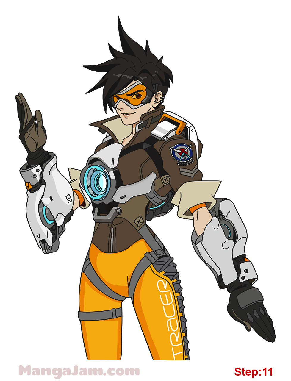 how to draw tracer guns