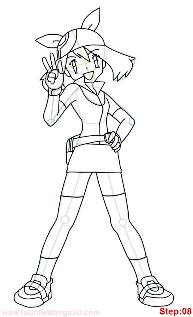 how to draw pokemon trainer may