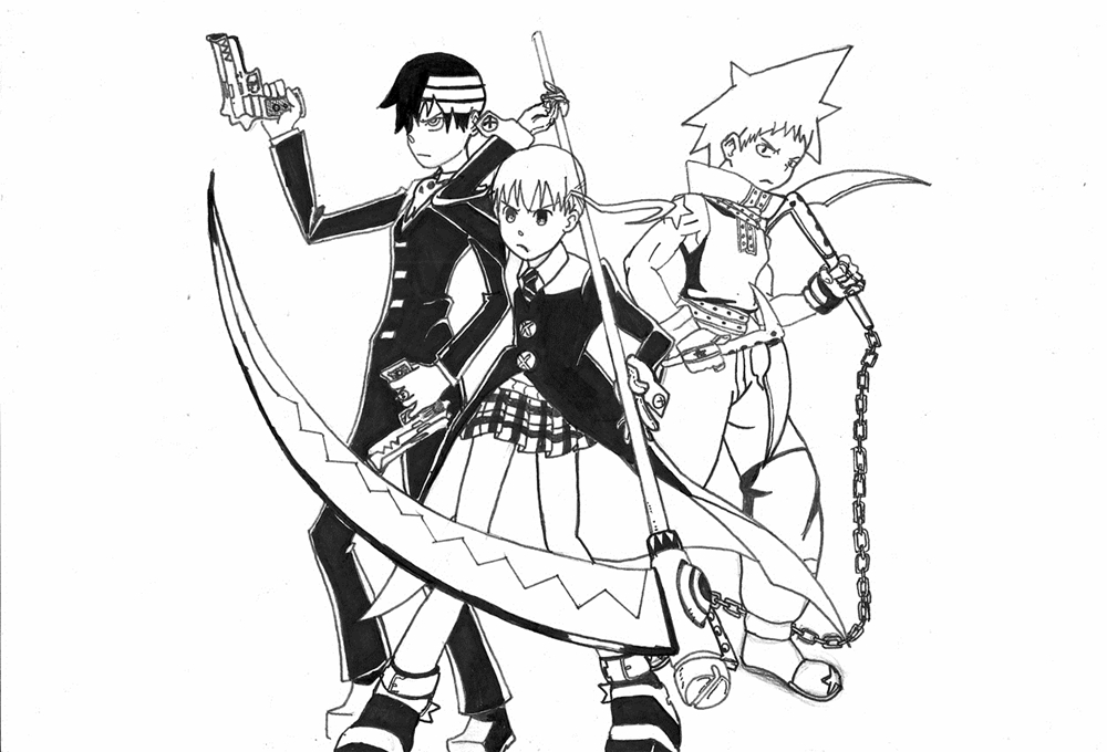 Modern Soul Eater Coloring Pages Stein Elaboration - Resume Ideas ...