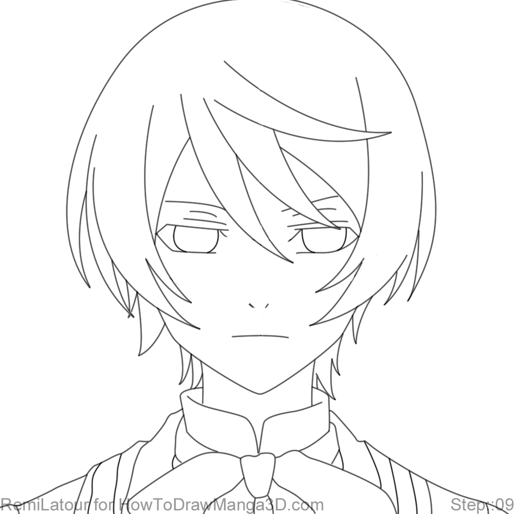 how to draw alois trancy from black butler