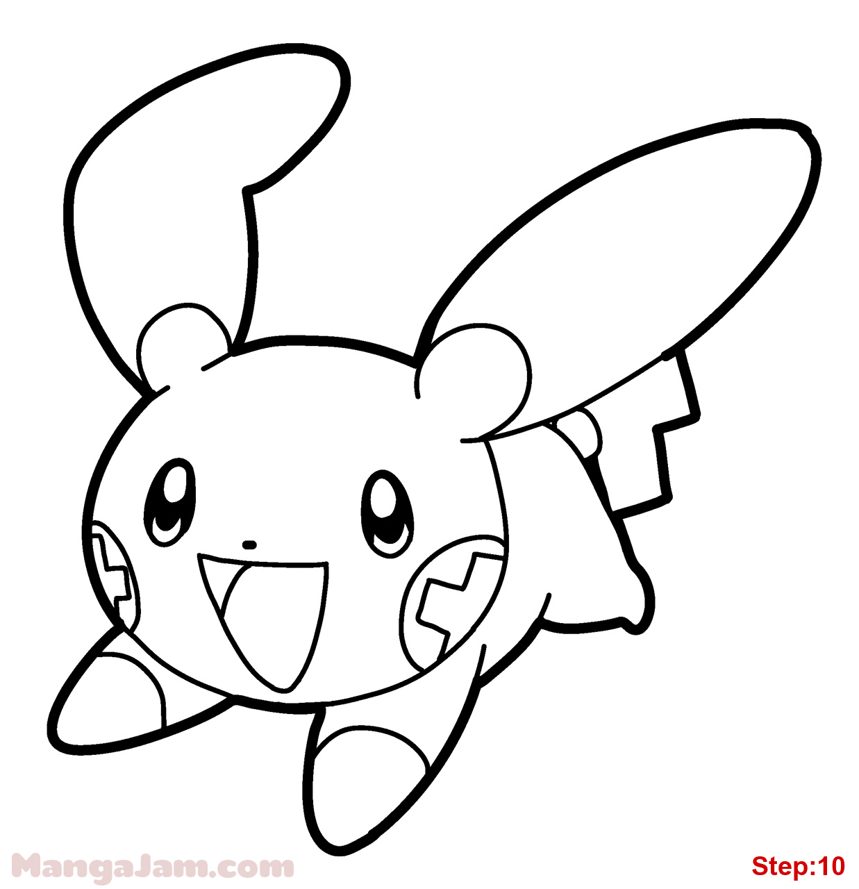 pokemon plusle and minun coloring pages
