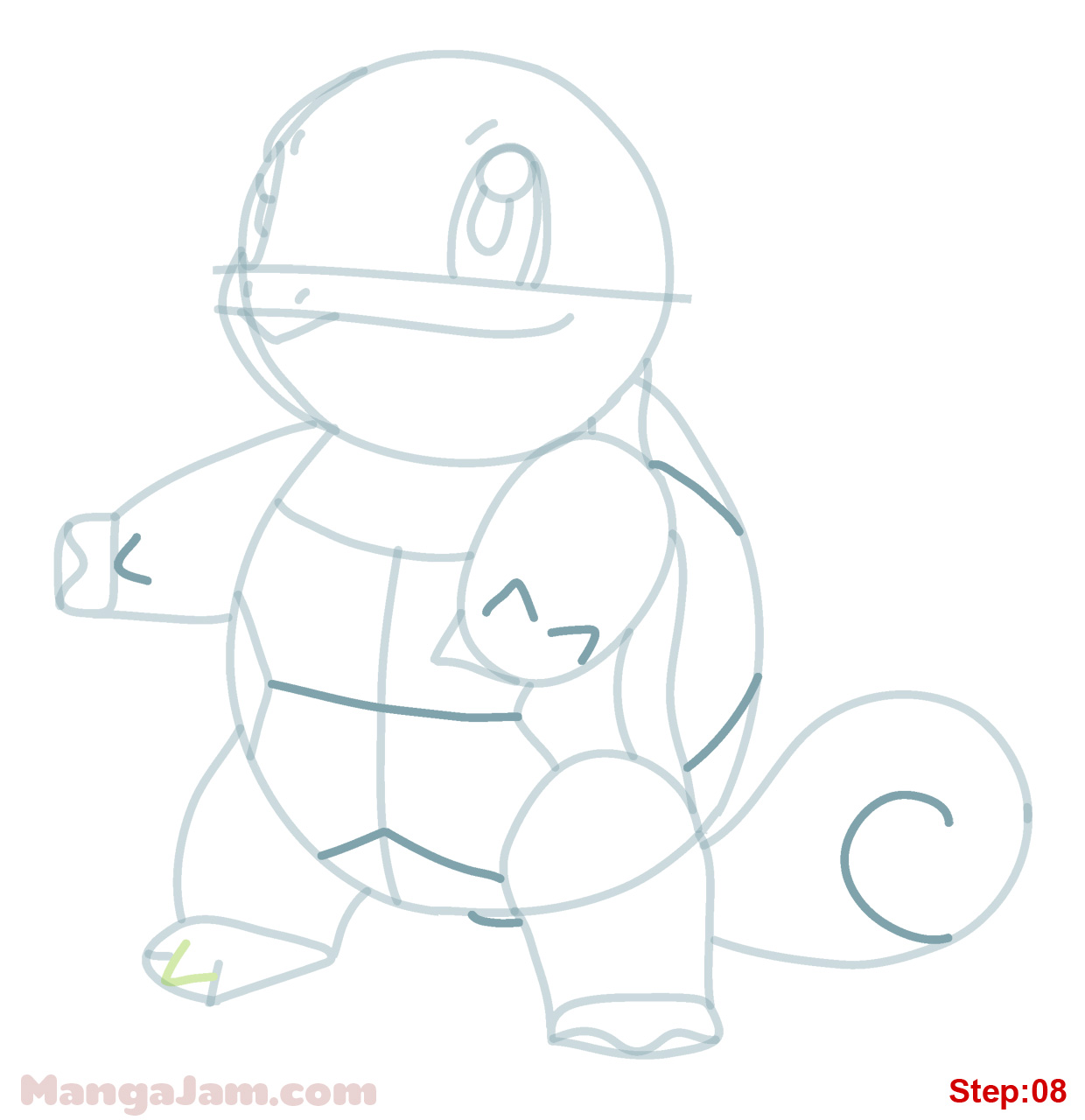How Draw Squirtle Pokemon