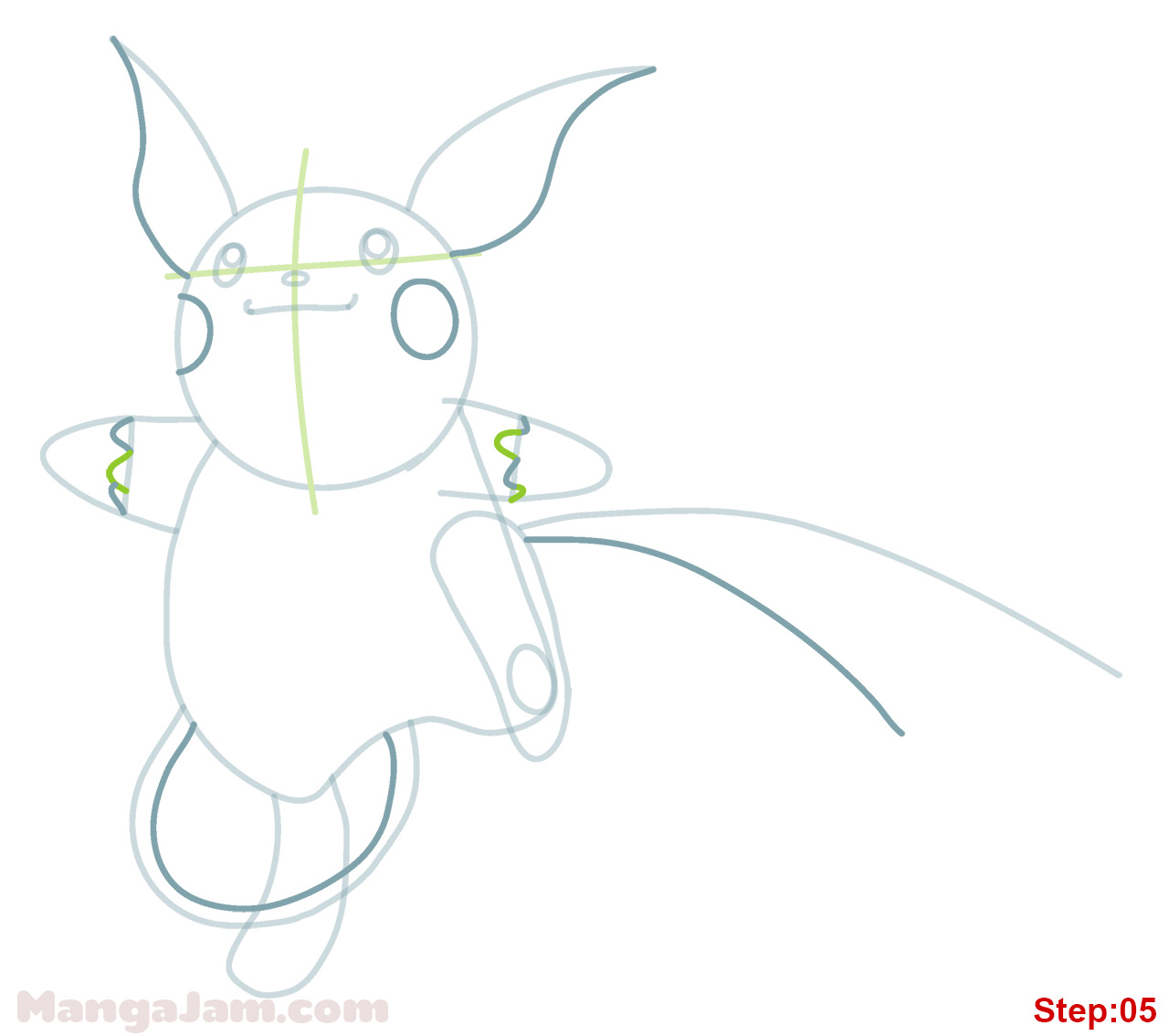 how to make a paper pikachu step by step