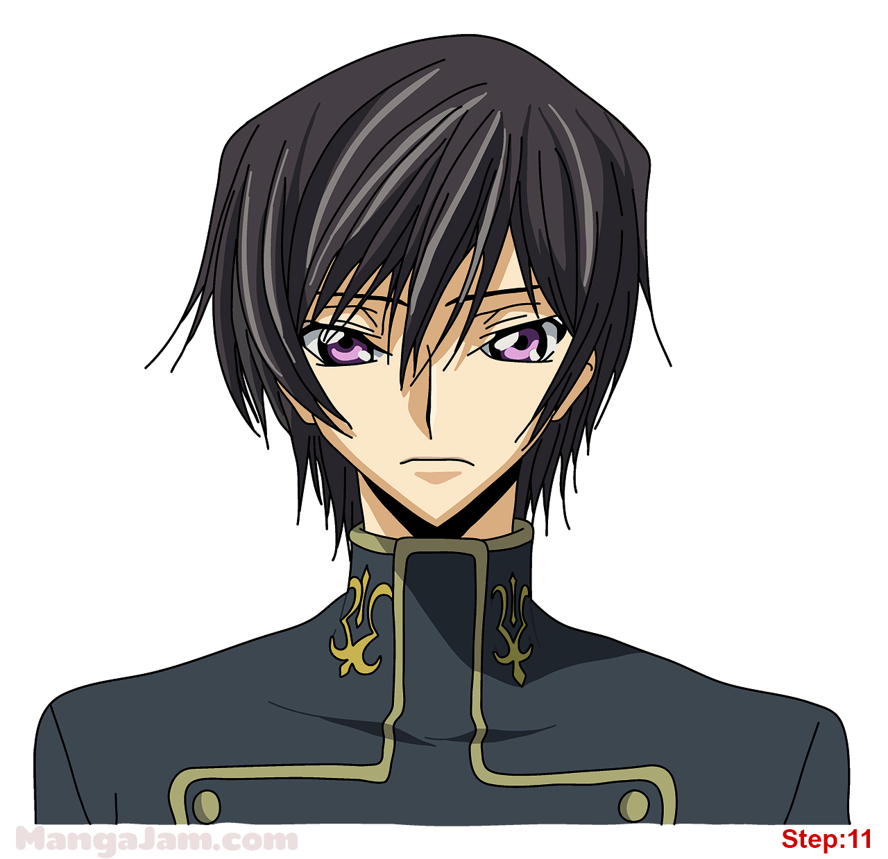 How To Draw Lelouch From Code Geass