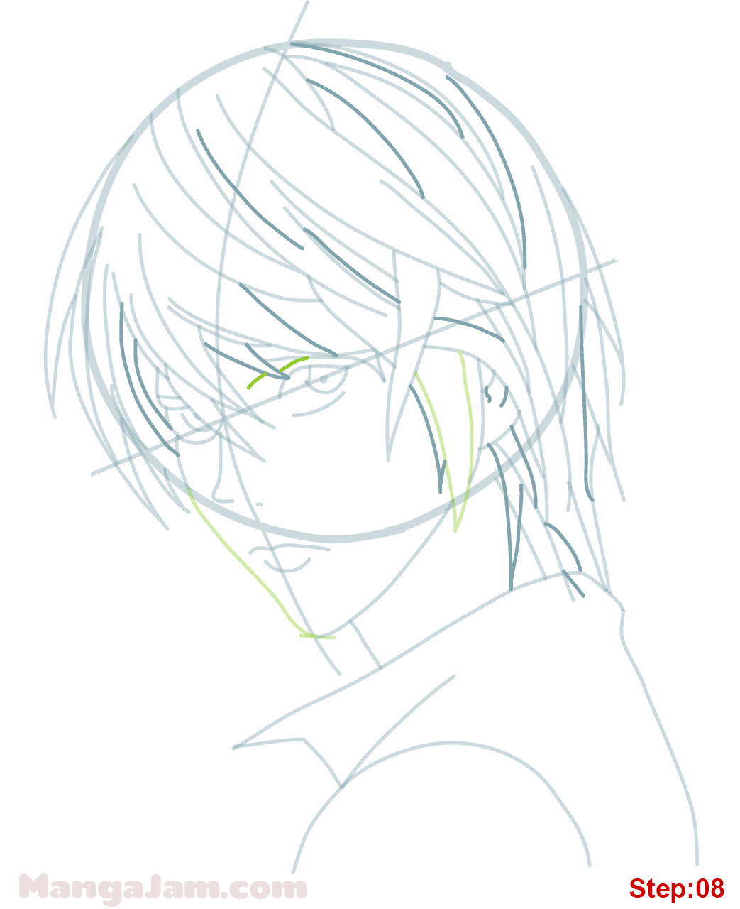 how to draw light yagami from death note mangajam com
