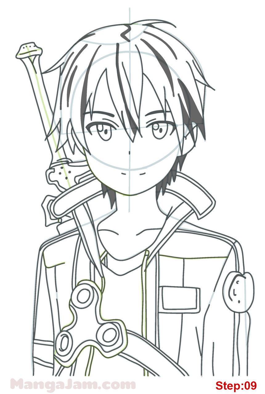 Sword art online sinon coloring pages sword best free for Draw online