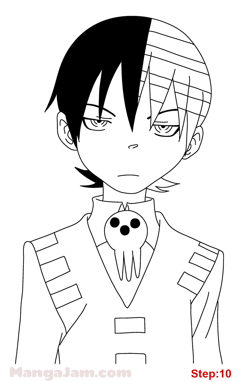 how to draw death the kid from soul eater mangajam com