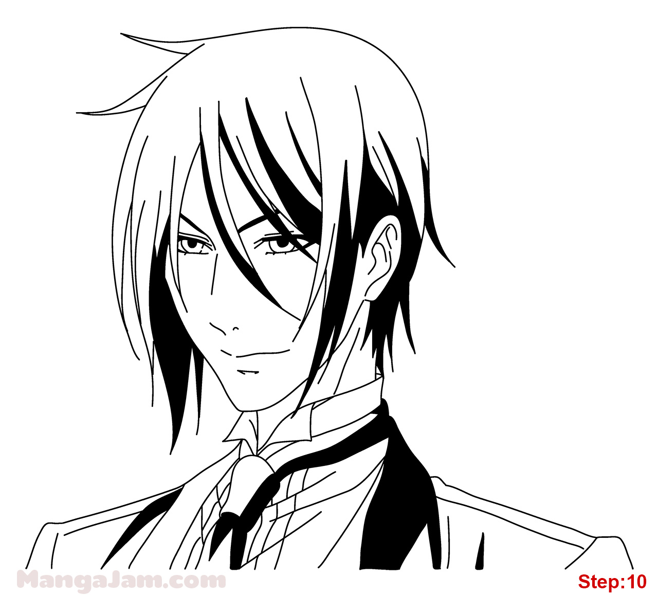 Sebastian black butler drawing