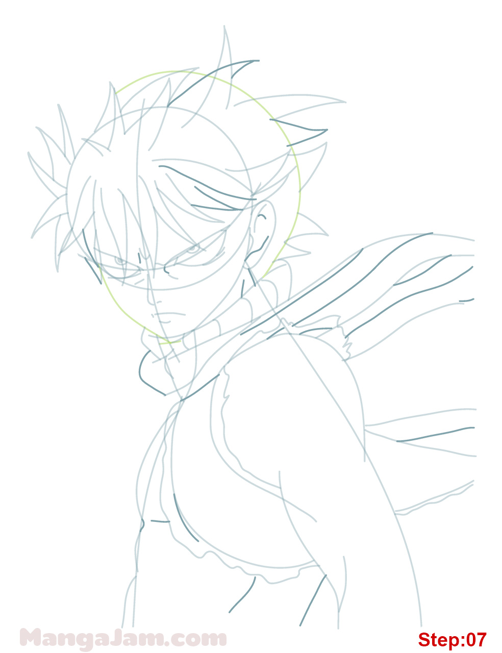 how to draw natsu dragon force